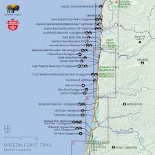 map of oregon lighthouses navigating the oregon coast trail outdoor project