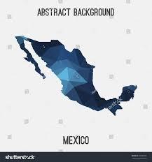 Tijuana Mexico Map Mexico Map Geometric Polygonal Styleabstract Tessellationmodern