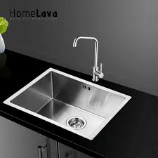 hand made brushed 304 stainless steel kitchen sink faucet kitchen