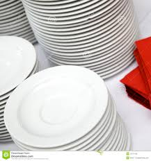 plates stacked at buffet line royalty free stock photo image