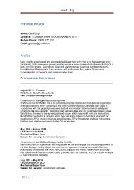 Job Resume Reason For Leaving by Geoff Day Mechanical Cv