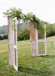 wedding arbor used 35 rustic door wedding decor ideas for outdoor country