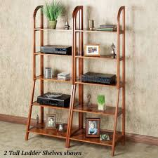 kimber red oak corner and ladder shelves