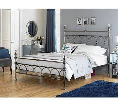 double size jessica full metal bed frame in black buy throughout
