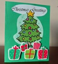 make a christmas card greeting card with christmas tree easy and cheap to make
