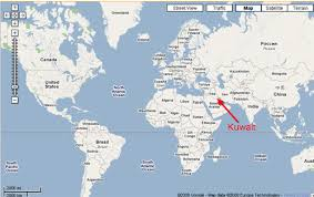 kuwait on a map where is kuwait on the map