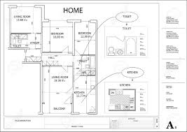 architectural drawing house plan royalty free cliparts vectors