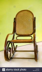 Bent Wood Rocking Chair Bentwood Rocking Chair Cane Chair 1930s Stock Photo Royalty Free