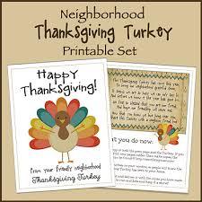 neighborhood thanksgiving turkey printable set the big moon