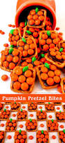 halloween food craft pumpkin pretzel bites halloween desserts halloween foods and