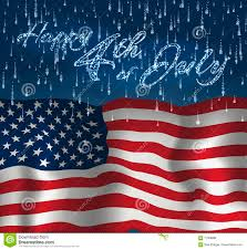 Design Of American Flag Festive Design For Fourth Of July Independence Day Usa With
