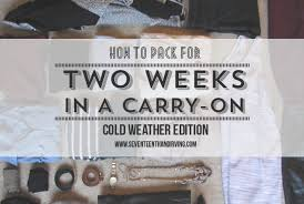 How To Travel Light Seventeenth U0026 Irving Travel Light During The Winter
