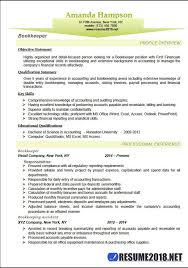 bookkeeping resume example ideas bookkeeper resume contents
