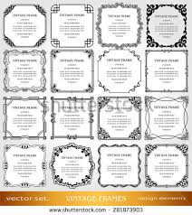 vintage photo frames set borders creative stock vector 281873903