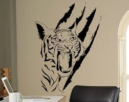 home interior tiger picture tiger wall decal etsy