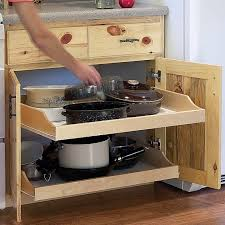 Kitchen Cabinet Rollouts Birch Pullout Shelf Kits For Kitchen Or Bath Shelf Kit Rockler