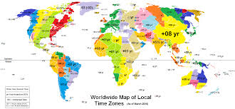 Trinidad On World Map by World Time Zone Map Roundtripticket Me