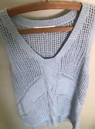 light blue cable knit sweater cabi sweater vest xs light blue cable knit sleeveless sea spray ebay