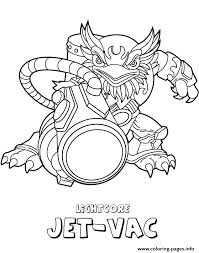skylanders giants air lightcore jet vac coloring pages printable