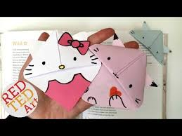 download video kawaii strawberry bookmark corner easy paper