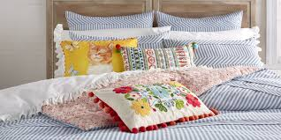 ticking stripe comforter the pioneer woman ree drummond is launching a bedding collection