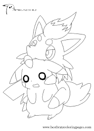 printable coloring pages pikachu printable image