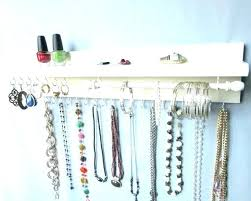 earring necklace organizer images Hanging necklace organizer bathroom wall decoration smilesup co jpg