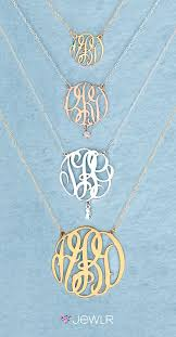 Monogrammed Necklace Best 25 Monogram Necklace Ideas On Pinterest Preppy Clothes