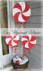Candy Cane Outdoor Decorations Make Holiday Lollipops That Look Like Real Peppermints Country
