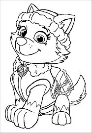 everest paw patrol free coloring page u2022 animals kids paw patrol