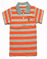 shirts orange gray stripe polo shirts a small amount of