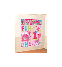 one wild scene setter wall decorating poster with happy