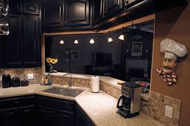 white kitchen islands pictures of kitchens with black cabinets varnished striped wood