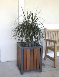 Wood Plastic Composite Furniture Wood Steel Planter Wooden Composite Plastic Mlp400 Maglin