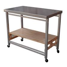 folding kitchen island work table kitchen commercial prep table kitchen cart steel table portable