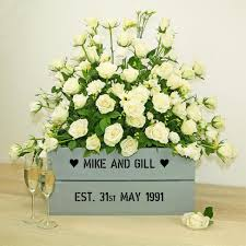 silver 25th wedding anniversary personalised crate