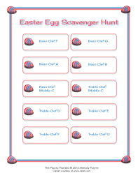 easter scavenger hunt easter egg scavenger hunt middle c position notes can t