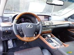 lexus ls 2013 black and saddle tan matte dark brown ash burl interior 2013 lexus