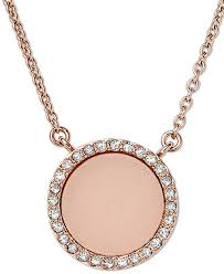 rose tone necklace images Michael kors rose gold tone blush necklace silver tree jewellery jpg