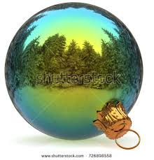 New Years Eve Hanging Decorations christmas ball decoration blue closeup happy stock illustration