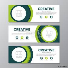 layout banner template green corporate business banner template horizontal advertising