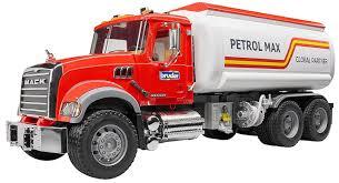 bruder fire truck mack granite tanker toy truck 02827 kids play new auth dealer