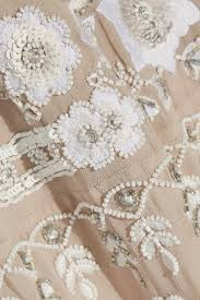 needle u0026 thread snowdrop embellished embroidered georgette mini
