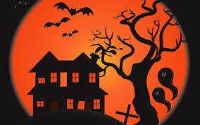spooky house halloween free halloween backgrounds wallpapers