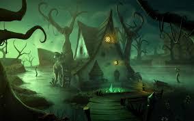 halloween dark haunted house spooky wallpaper 1920x1200 497984
