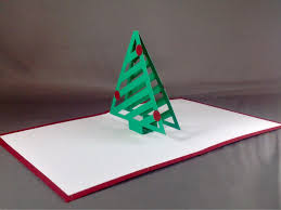 pop up cards with christmas tree card bright and merry christmas