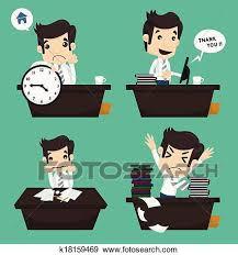 sedere di uomo clip set di uomo affari sedere scrivania impiegato