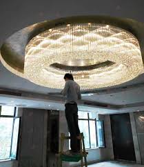 t luxury large engineering ceiling light circular led
