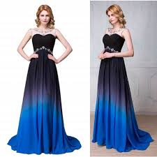 royal blue dress new arrival navy blue gradient prom dresses royal blue ombre