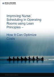 lean scheduling in operating rooms